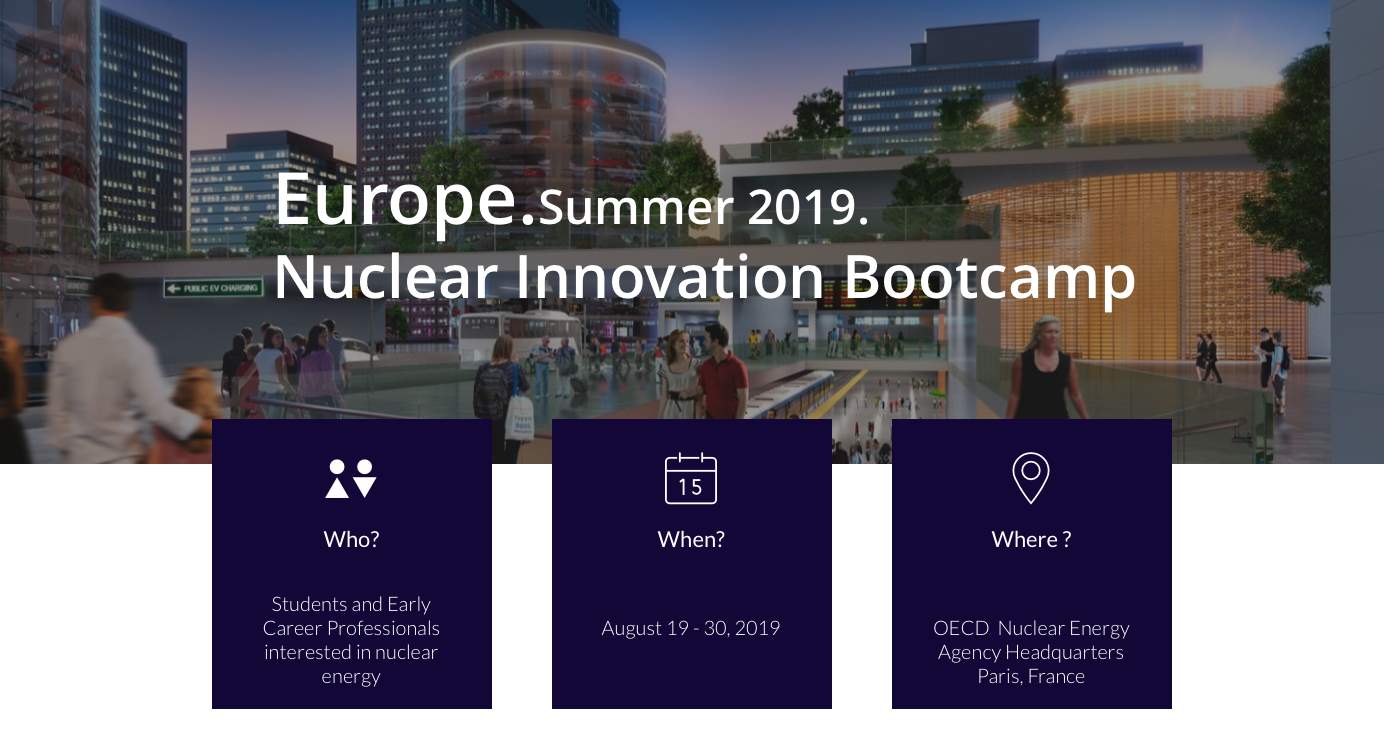 Students interested in nuclear energy should apply for the Nuclear Innovation Bootcamp
